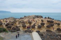 Geopark di Yehliu in Taiwan fotografia stock libera da diritti