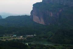 Geopark nacional do danxia de Mout imagens de stock royalty free