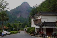 Geopark national de danxia de bâti de Guangdong images stock