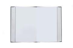 Geopend boek met lege witte pagina's Stock Foto