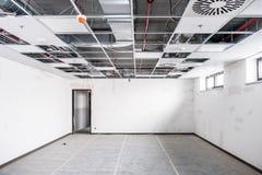 Geopend gehangen plafond stock fotografie