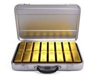 Geopend geval met goudstaven royalty-vrije illustratie