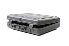 Geopend grijs plastic geval. Royalty-vrije Stock Fotografie