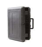 Geopend grijs plastic geval. Royalty-vrije Stock Foto