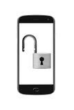 Geopend smartphoneconcept Stock Foto
