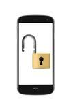 Geopend smartphoneconcept Stock Foto's