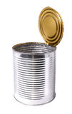 Geopend tin Royalty-vrije Stock Afbeelding