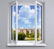 Geopend venster stock foto