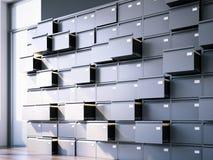 Geopende archiefkast in binnenland het 3d teruggeven Royalty-vrije Stock Afbeelding