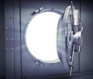 Geopende deur voor een bankkluis Royalty-vrije Stock Fotografie