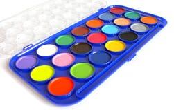 Geopende kleurenverven Stock Foto