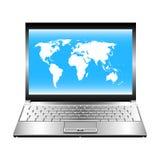 Geopende laptop. Stock Afbeeldingen
