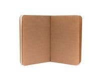 Geopende lege notaboeken - zachte pagina'stextuur Royalty-vrije Stock Afbeelding
