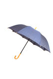 Geopende paraplu die op wit wordt geïsoleerde Royalty-vrije Stock Fotografie
