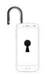 Geopende smartphone Royalty-vrije Stock Foto