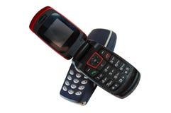 Geopende telefoons Stock Afbeeldingen