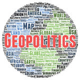 Geopolitics word cloud shape Royalty Free Stock Photography