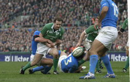 Geordan Murphy,Ireland V Italy,6 Nations Rugby Stock Photos