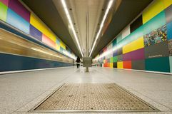 Georg-Brauchle-Ring subway station in Munich Royalty Free Stock Photography