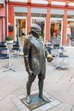 Georg Christoph Lichtenberg's monument at the marketplace in Goettingen. Stock Photos