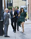 George and Amal Clooney stock image