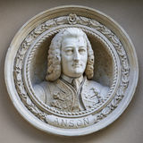 George Anson Medallion Bust in Greenwich Stock Images