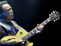 George Benson in Italien, Mailand, am 11. Juli 2014 stockbild