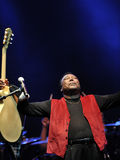 George Benson in Italien, Mailand, am 11. Juli 2014 Lizenzfreie Stockfotos