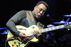 George Benson in Italy, Milan, July 11, 2014 Royalty Free Stock Images