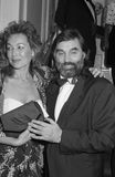 George Best. Northern Ireland and Manchester United footballer, with his girlfriend Mary Shatilla at a celebrity event in London on October 18, 1990. He died Royalty Free Stock Images