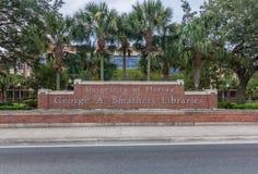 George A Bibliotecas de Smathers en la universidad de la Florida fotos de archivo libres de regalías
