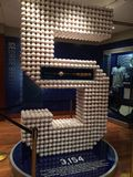 George Brett 3000 hits sculpture. Kansas City Royals Hall of Fame. Each hit from George Brett's career is represented in this sculpture  of his number Stock Photos