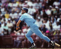 George Brett, Kansas City Royals. Kansas City Royals legend George Brett, #5. (Image from color slide Royalty Free Stock Photography