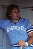 George Brett. Kansas City Royals slugger George Brett.  Image taken from color slide Royalty Free Stock Photo