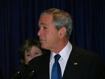 George Bush in de Oekraïne Stock Foto