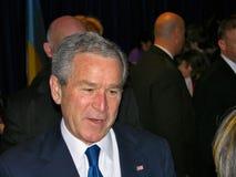 George Bush in de Oekraïne Stock Foto's