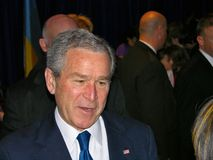 George Bush en Ukraine Photos stock