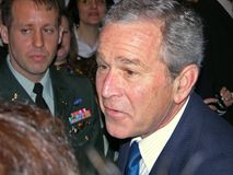 George Bush en Ukraine Image stock