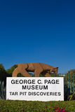 George C Museo della pagina al Le Brea Tar Pits Fotografia Stock