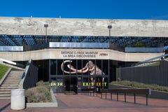 George C Museu da página em Le Brea Tar Pits Fotografia de Stock