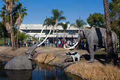 George C. Page Museum at Le Brea Tar Pits. LOS ANGELES, CA/USA - NOVEMBER 29, 2014: George C. Page Museum at Le Brea Tar Pits. La Brea Tar Pits and Hancock Park Royalty Free Stock Image