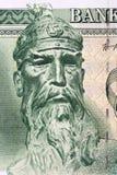 George Castriot Skanderbeg a portrait. George Castriot Skanderbeg portrait from Albanian money royalty free stock photo