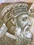George Castriot Skanderbeg portrait. From Albanian money stock photo