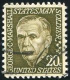 George Catlett Marshall. UNITED STATES - CIRCA 1965: stamp printed by United states, shows George Catlett Marshall, circa 1965 stock images