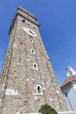 George Church bell tower in Piran Stock Photos
