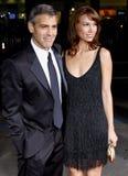 George Clooney και Sarah Larson Στοκ φωτογραφία με δικαίωμα ελεύθερης χρήσης