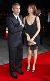 George Clooney και Sarah Larson Στοκ Εικόνα