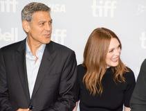 George Clooney στη συνέντευξη τύπου ` Suburbicon ` στο διεθνές φεστιβάλ ταινιών του Τορόντου Στοκ Φωτογραφίες