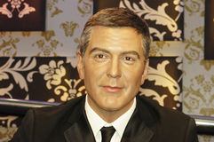 George Clooney. Picture of George Clooney wax model at Madam Tussauds Stock Photo