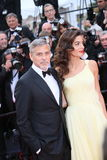 George Clooney and Amal Alamuddin Royalty Free Stock Photos